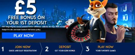 Best UK Roulette Sites £5 Bonus