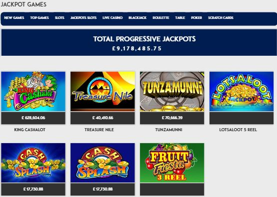 Jackpot Games UK Casino